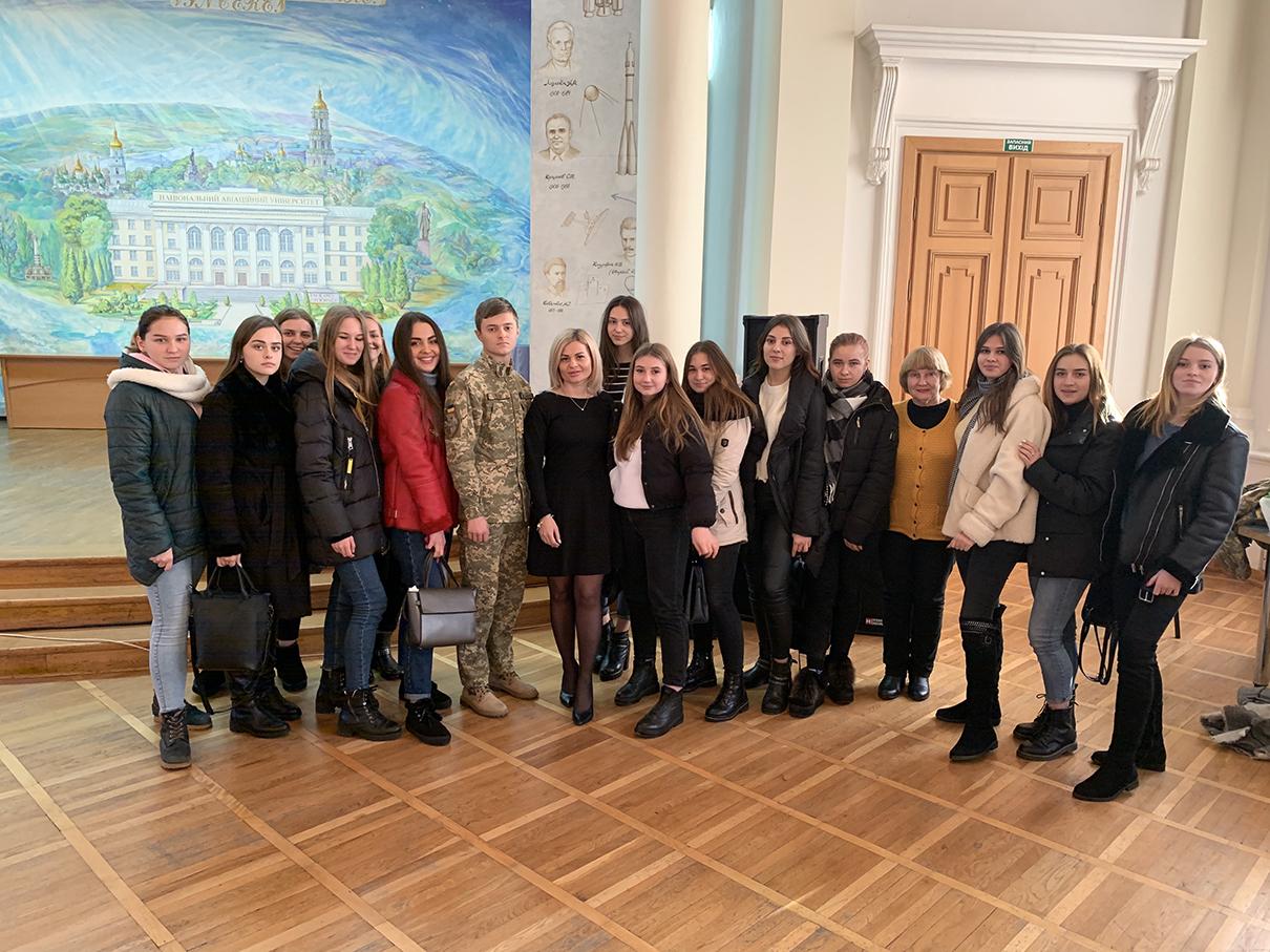 Студенти Факультету міжнародних відносин взяли участь у святкуванні Дня захисника України на базі військової кафедри НАУ