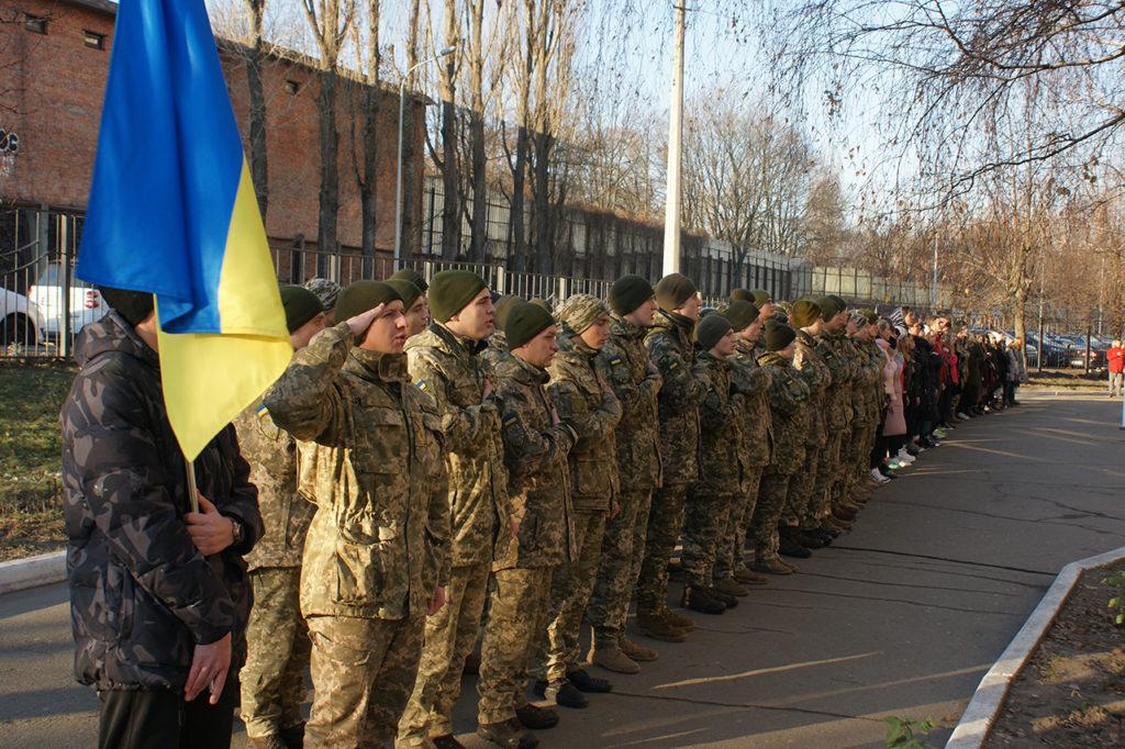 Урочистості з нагоди Дня захисника України пройшли на Факультеті міжнародних відносин НАУ