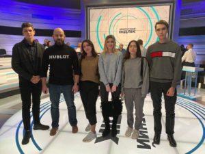 Студенти Факультету міжнародних відносин НАУ взяли участь у прямому ефірі ток-шоу «Зворотний відлік»