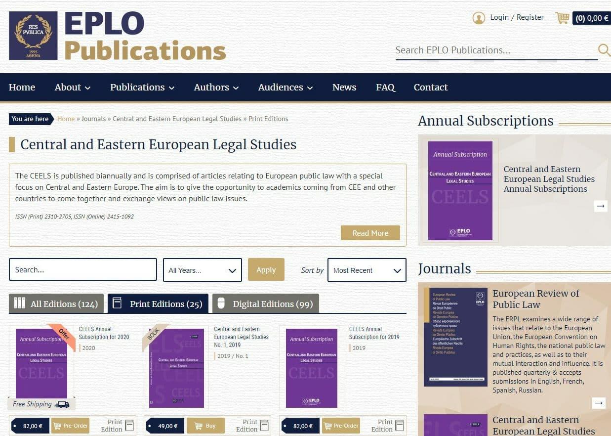 Декан Факультету міжнародних відносин – член редколегії міжнародного журналу  «Central and Eastern European Legal Studies»