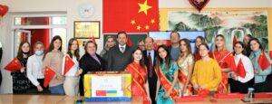 (Українська) Факультет міжнародних відносин отримав благодійну допомогу від китайських партнерів